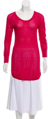 Moncler Open Knit Long Sleeve Top