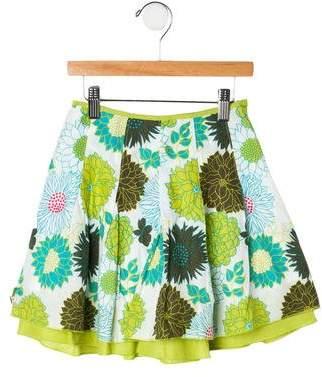 Catimini Girls' Pleated Floral Skirt
