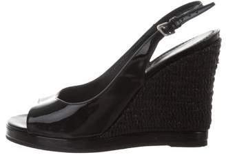 Saint Laurent Slingback Wedge Sandals