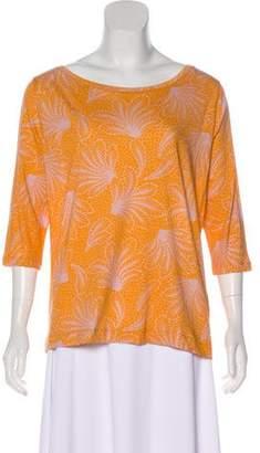 Dries Van Noten Printed Three-Quarter Sleeve T-Shirt