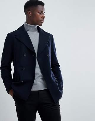 Esprit Wool Peacoat In Navy