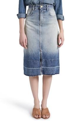 Women's Current/elliott The Slit Midi Skirt $248 thestylecure.com