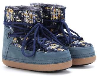 Inuikii English Tartan tweed ankle boots