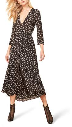 Reformation Jaz Wrap Midi Dress