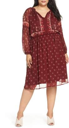 Lucky Brand Border Print Dress