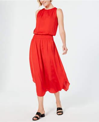 Alfani Petite Smocked-Waist Midi Dress
