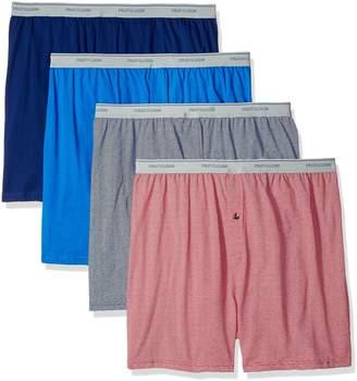Fruit of the Loom Men's 4-Pack Knit Boxer Extended Sizes
