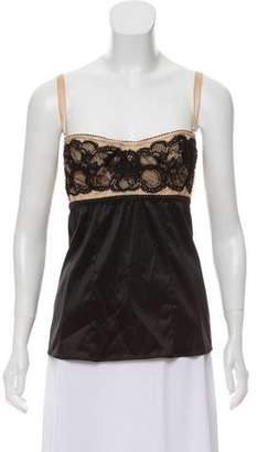 Dolce & Gabbana Silk-Blend Bustier Top