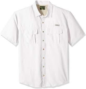 5b9ced4f7c3 G.H. Bass & Co. Men's Big and Tall Explorer Short Sleeve Point Collar  Fishing Shirt