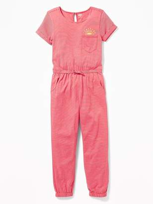 Old Navy Striped Jersey Jumpsuit for Girls