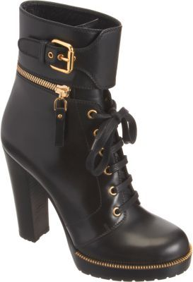 Sergio Rossi Zip-Off Collar Ankle Boot