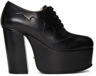 Gucci Black Otis Platform Loafer Heels