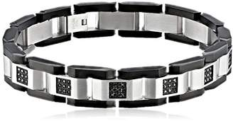 Black Diamond Cold Steel Men's Stainless Steel Black Immersion-Plate Bracelet