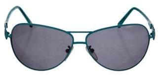 Emilio Pucci Printed Aviator Sunglasses