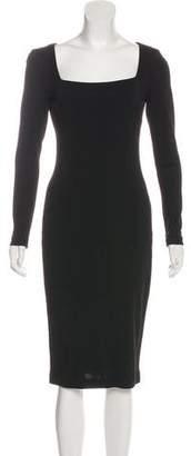 Ralph Lauren Square Neck Midi Dress