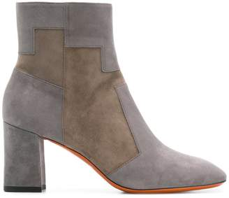 Santoni two tone ankle boots