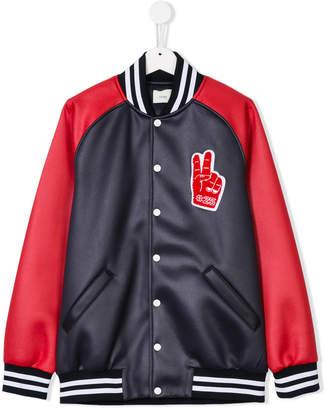 Fendi teen varsity bomber jacket