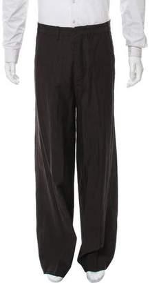 Ann Demeulemeester Herringbone Flat-Front Pants w/ Tags