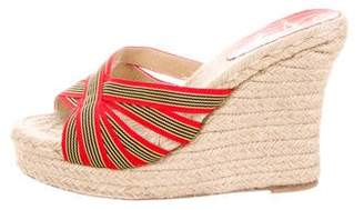 Christian Louboutin Woven Espadrille Wedges