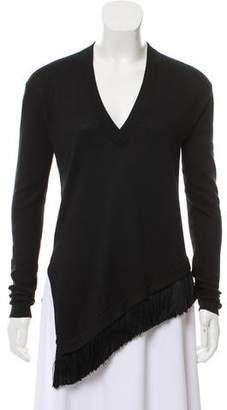 Derek Lam Long Sleeve V-Neck Sweater