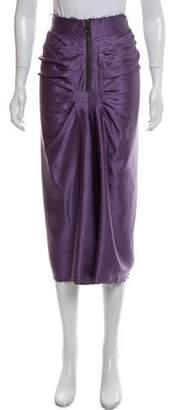 Lanvin Silk Midi Skirt