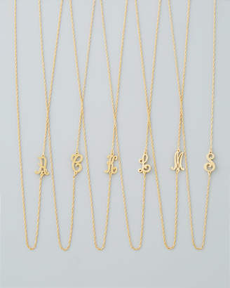 Jennifer Zeuner Jewelry 18k Gold Vermeil Mini Initial Necklace
