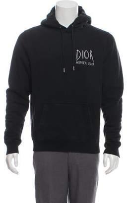 Christian Dior 2019 Raymond Pettibon Embroidered Pullover Hoodie black 2019 Raymond Pettibon Embroidered Pullover Hoodie