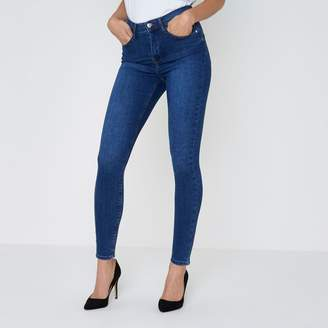 River Island Womens Mid Blue Harper high waisted skinny jeans