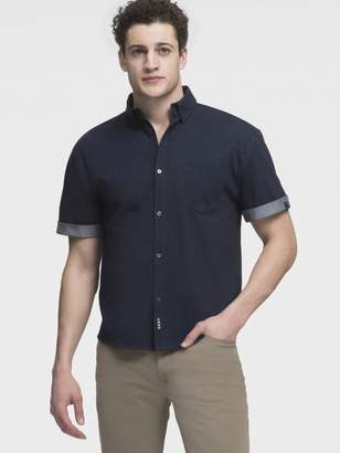 DKNY Short Sleeve Button Up