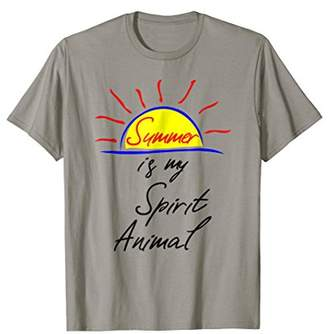 Funny Summer Shirt Summer Is My Spirit Animal Vacation Gift