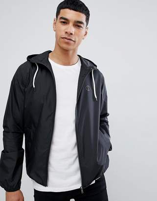 Solid Showerproof Lightweight Hooded Jacket