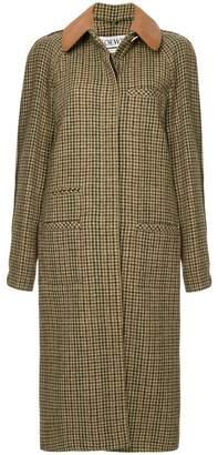 Loewe houndstooth coat