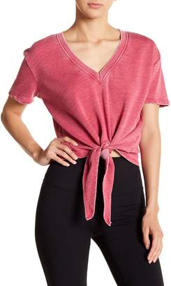Alternative Tie Front Short Sleeve Sweater