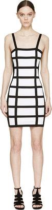 Balmain Black & White Grid Dress $1,975 thestylecure.com