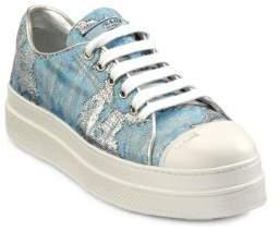 Prada Brocade Platform Sneakers