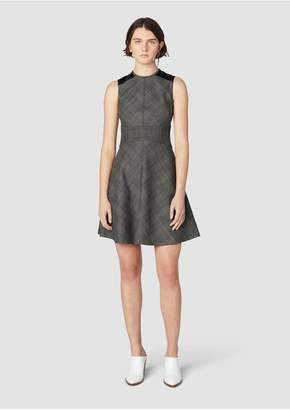 Derek Lam 10 Crosby Sleeveless Fit Flare Dress With Corset Waist Detail