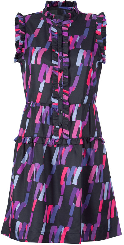 Marc by Marc Jacobs Deep Navy Multi Confetti Striped Dress