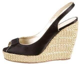 Roger Vivier Peep-Toe Wedge Sandals