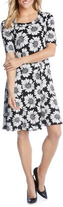 Karen Kane Daisy Print Shift Dress