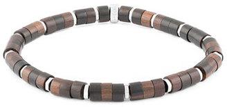 Tateossian Men's Ebony Wood Bead Bracelet $250 thestylecure.com