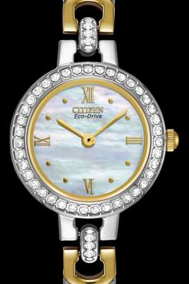 Citizen Mixed-Metal Crystal Watch