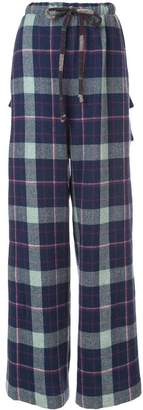 Natasha Zinko flared flannel trousers