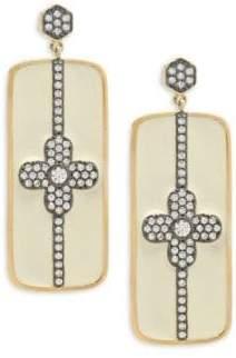 Freida Rothman Pavé Bar Post Earrings