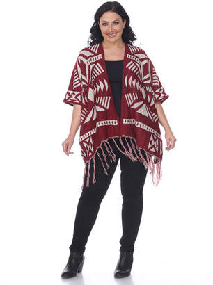 WHITE MARK White Mark Aztec Womens Poncho Plus