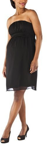 Liz Lange® for Target® Maternity Strapless Chiffon Dress - Ebony