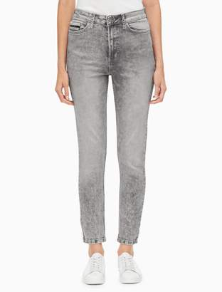 Calvin Klein skinny fit high rise lightning grey ankle jeans