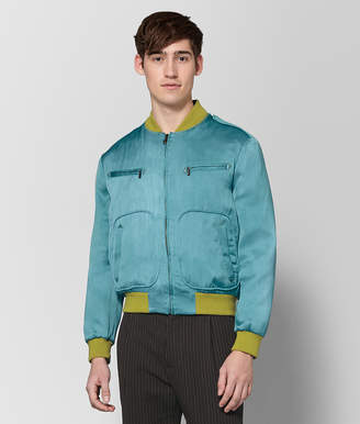 Bottega Veneta LIGHT AQUA SILK JACKET