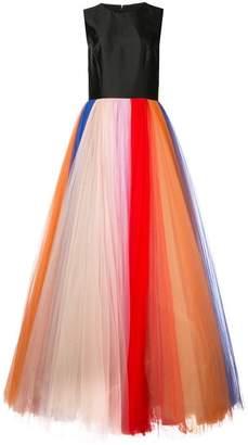 Carolina Herrera rainbow tulle gown