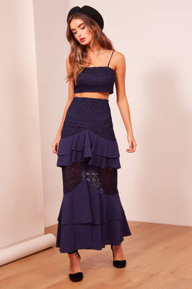 Finders Keepers AFTERGLOW SKIRT navy