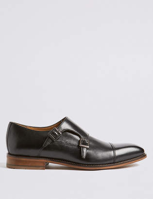 Marks and Spencer Leather Double Monk Strap Shoes